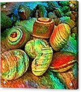 Colored Stones By Rafi Talby   Acrylic Print