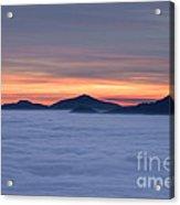 Colored Sunset Acrylic Print