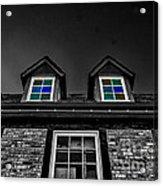 Colored Windows Acrylic Print