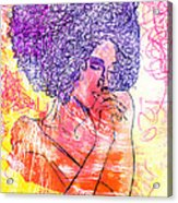Colored Woman Acrylic Print by Kenal Louis
