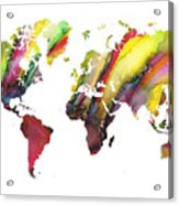 Colored World Map Acrylic Print