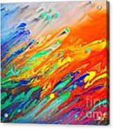 Colorful Abstract Acrylic Painting Acrylic Print