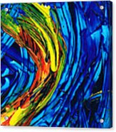 Colorful Abstract Art - Energy Flow 2 - By Sharon Cummings Acrylic Print