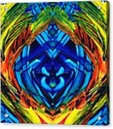 Colorful Abstract Art - Purrfection - By Sharon Cummings Acrylic Print