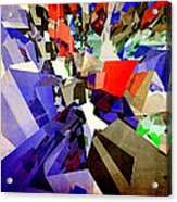 Colorful Abstract Geometric Cluster Acrylic Print