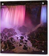 Colorful American Falls Acrylic Print by Adam Romanowicz