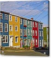 Colorful Apartment Buildings In Saint John's-nl Acrylic Print
