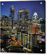 Colorful Austin Skyline At Night Acrylic Print