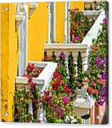 Colorful Balconies Acrylic Print