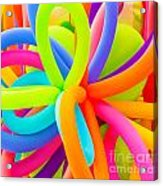 Colorful Balloons Background Acrylic Print
