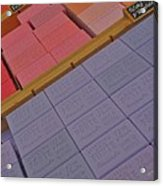 Colorful Bars Soap On Market In Provence Acrylic Print