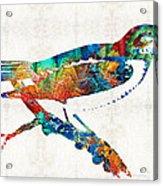 Colorful Bird Art - Sweet Song - By Sharon Cummings Acrylic Print