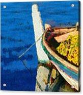 Colorful Boat Acrylic Print