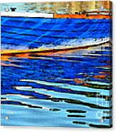 Colorful Boat On The Water Acrylic Print