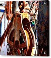 Colorful Boat Pully Acrylic Print