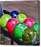 Colorful Bowling Balls Acrylic Print