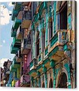 Colorful Buildings In Havana Acrylic Print