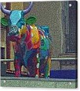 Colorful Bull Acrylic Print