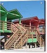 Colorful Cabanas Acrylic Print