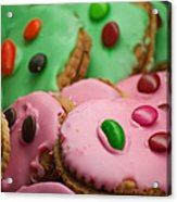 Colorful Candy Faces Acrylic Print