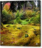 Colorful Carpet Of Moss In Benmore Botanical Garden Acrylic Print