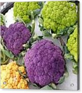 Colorful Cauliflower Acrylic Print