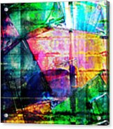 Colorful Cd Cases Collage Acrylic Print