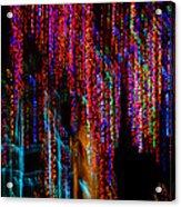 Colorful Christmas Streaks - Abstract Christmas Lights Series Acrylic Print