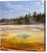 Colorful Chromatic Geyser In Upper Geyser Basin Acrylic Print