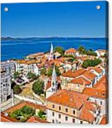 Colorful City Of Zadar Rooftops  Towers Acrylic Print