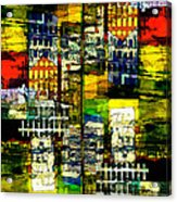 Colorful City Scene Acrylic Print