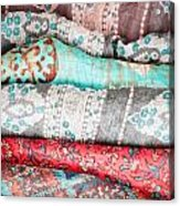 Colorful Cloths Acrylic Print