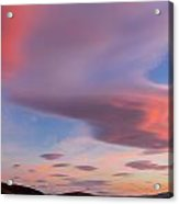 Colorful Clouds Over Wicklow Mountains Acrylic Print by Semmick Photo