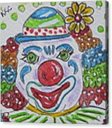 Colorful Clown Acrylic Print