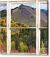 Colorful Colorado Rustic Window View Acrylic Print by James BO  Insogna