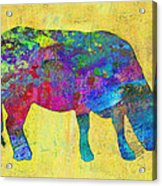 Colorful Cow Abstract Art Acrylic Print
