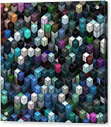 Colorful Cubes Acrylic Print