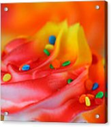 Colorful Cup Cake Acrylic Print