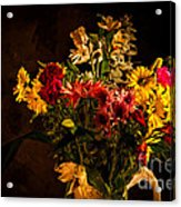 Colorful Cut Flowers In A Vase Acrylic Print