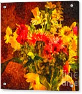 Colorful Cut Flowers - V2 Acrylic Print
