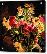 Colorful Cut Flowers - V3 Acrylic Print