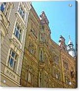 Colorful Czech Buildings II Acrylic Print