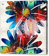 Colorful Daisy Art - Hip Daisies - By Sharon Cummings Acrylic Print