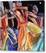 Colorful Dancers Acrylic Print