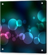 Colorful Defocused Lights Acrylic Print by Aged Pixel