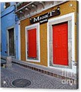Colorful Doors Guanajuato Mexico Acrylic Print