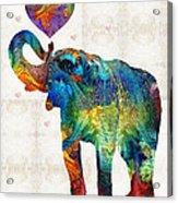 Colorful Elephant Art - Elovephant - By Sharon Cummings Acrylic Print