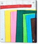 Colorful Felt Acrylic Print