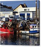 Colorful Fishing Boats Acrylic Print