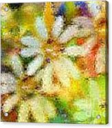 Colorful Floral Abstract II Acrylic Print